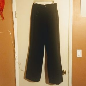 Forever 21 button front lace back flair pants